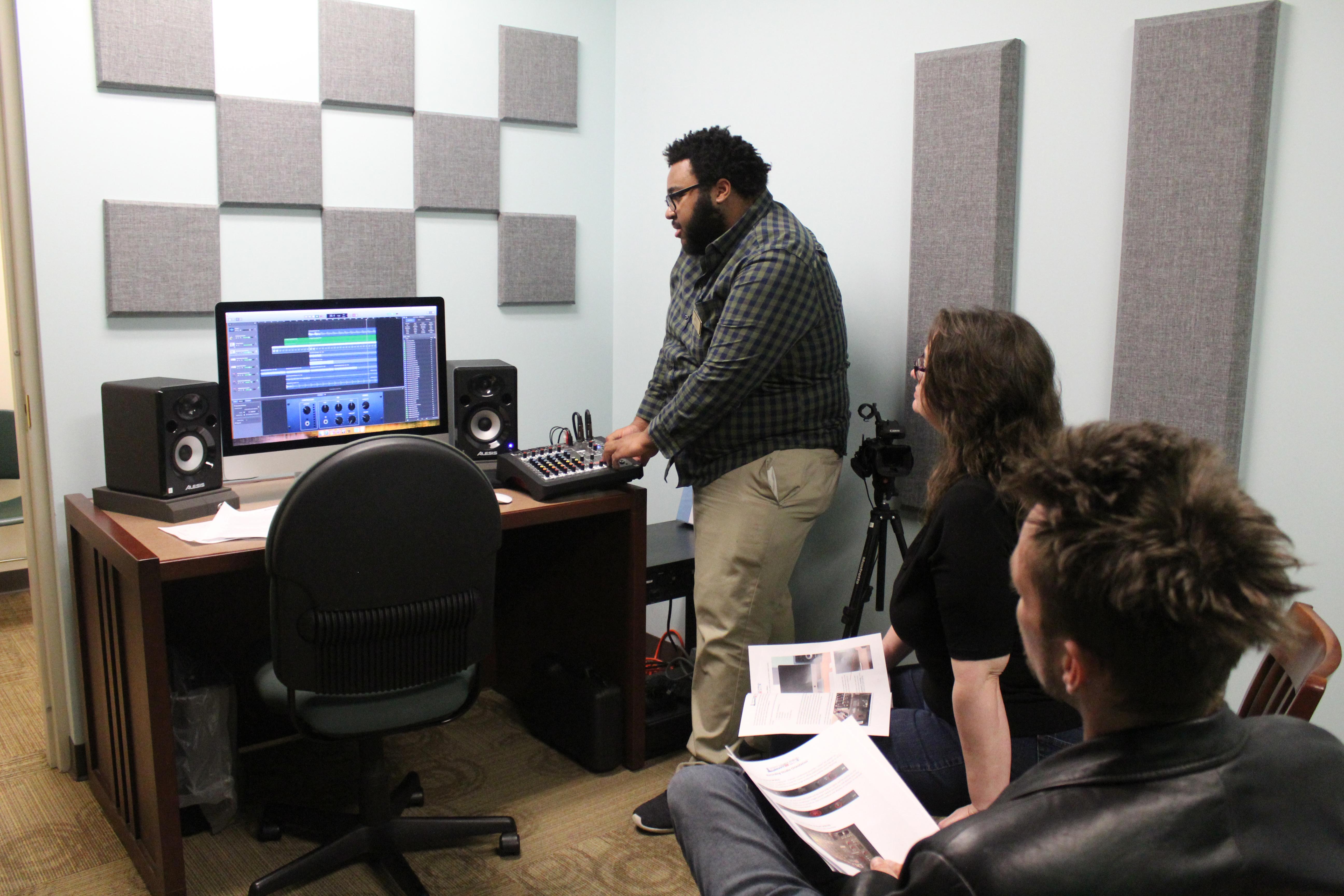 Recording Studio Orientation at SCPL